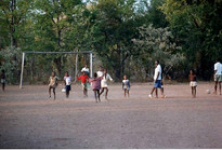 Tanzania Playing soccer with Childen.jpe
