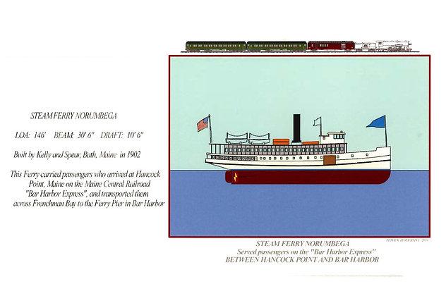 Steam Ferry Norumbega Card by Artisan Peter Zimmerman