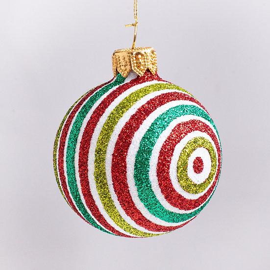 "#2197 - Thomas Glenn ""Gala"" Mini Ball Christmas Ornament"