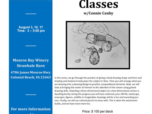 August, On-going Drawing Class (3 Classes)