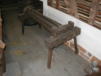 Flax Breaker, Wood, American. Circa 1800's.