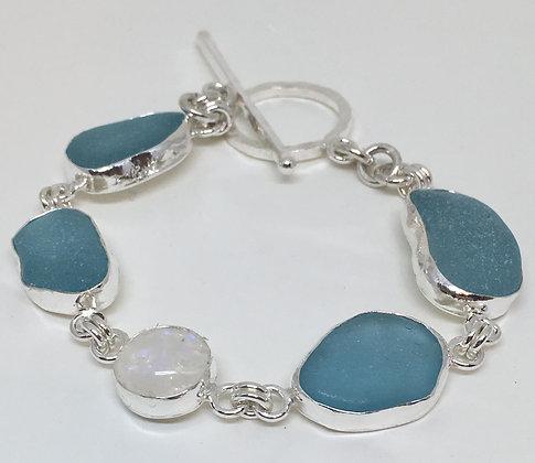 Blue Moon Seaglass Bracelet