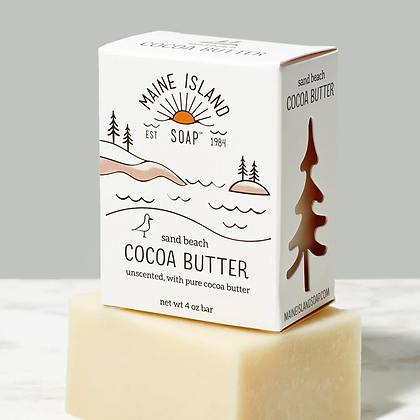 Sand Beach Cocoa Butter Soap by Artisan Maine Island Soap