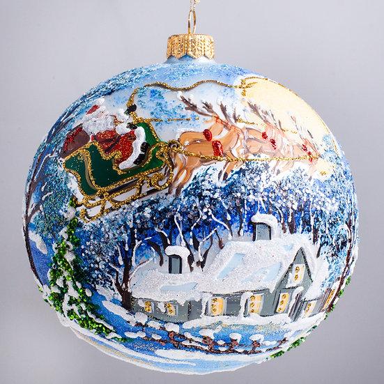 "#2166 - Thomas Glenn ""On Dasher!""  Ball Christmas Ornament"
