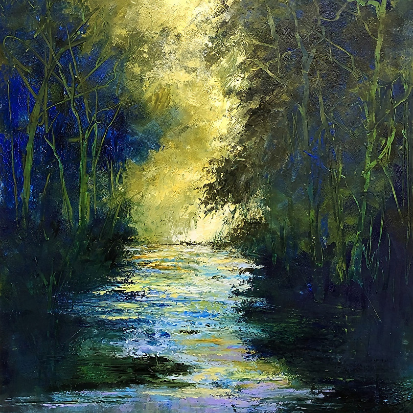 Painting Landscapes with Oil and Cold Wax Medium using Palette Knives (2-Day Class)