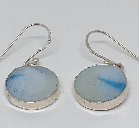 Ohajiki Marble Blueberry Earrings