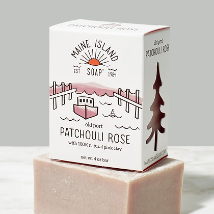 Old Port Patchouli Rose Soap by Artisan Maine Island Soap
