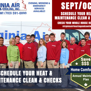 September Tips from VA Air Heating & Cooling