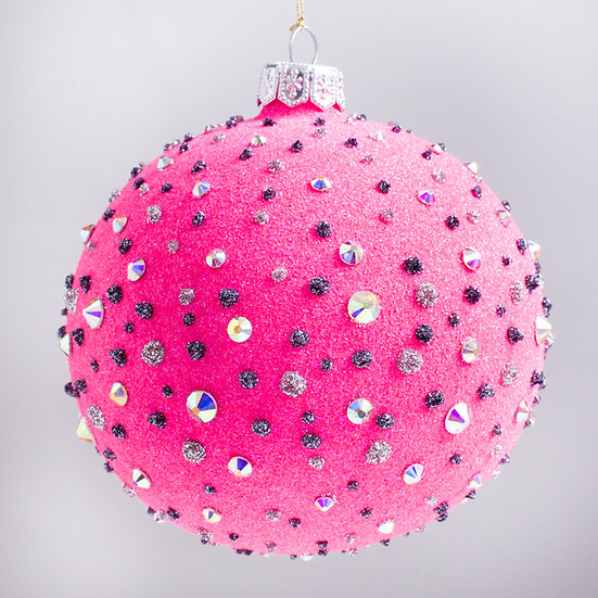 "#1627HP - Thomas Glenn ""Couture - Hot Pink"" Ball Christmas Ornament"