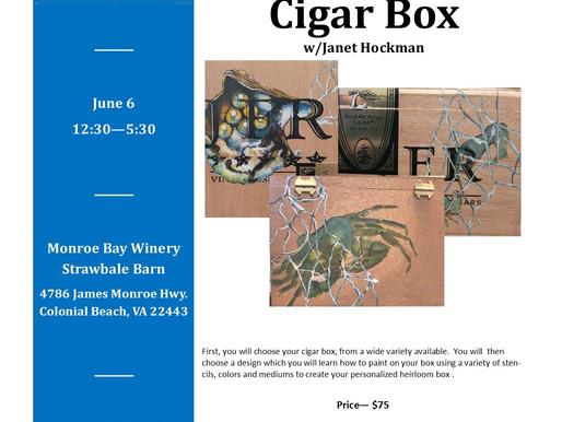 Creating an Heirloom Cigar Box, June 6, 2021
