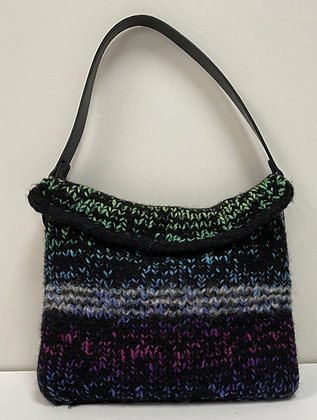 Remember the 70s Hand Felted Purse