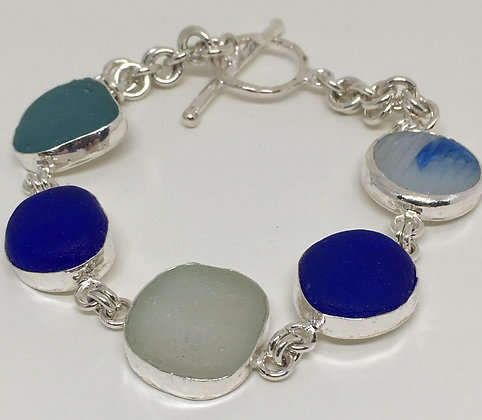 Churning Sea Seaglass Bracelet