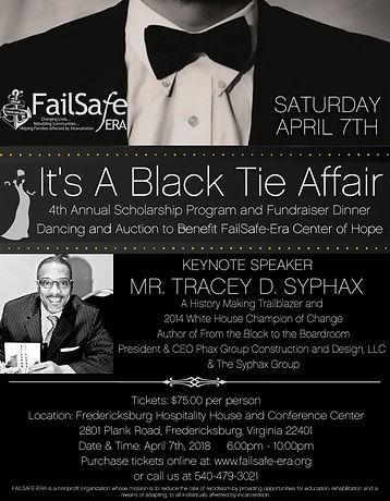 black tie affair flyer