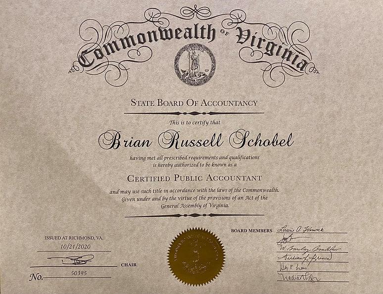 brian certificate