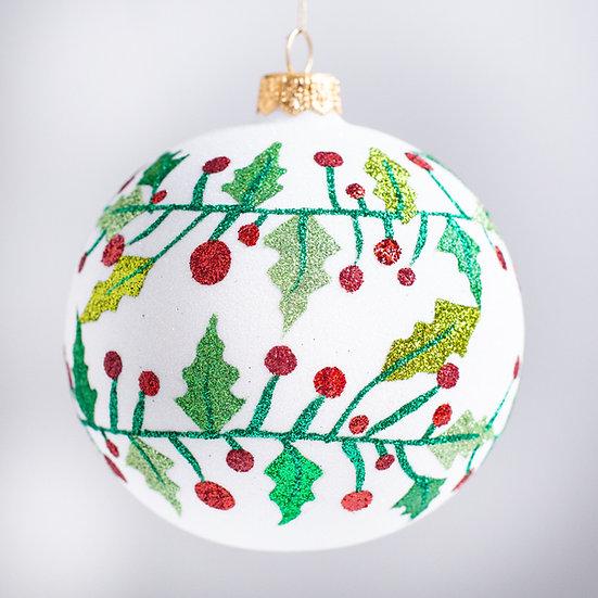 "#2133 - Thomas Glenn ""Holly by Golly"" Ball Christmas Ornament"