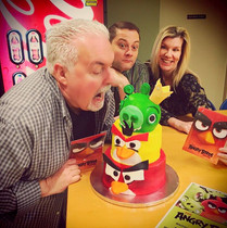Angry Birds cake was featured on the Jack Diamond Show radio show on mix 107.3
