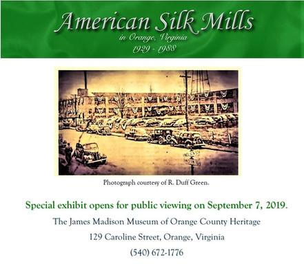 American Silk Mill Exhibit Announcement