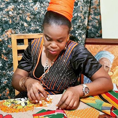 NIGERIAN PAINTER Ronke
