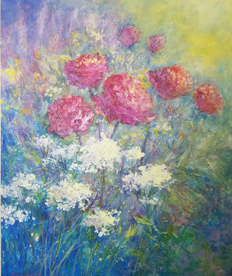 Artist Seija Martin_Flower   Garden_20X2