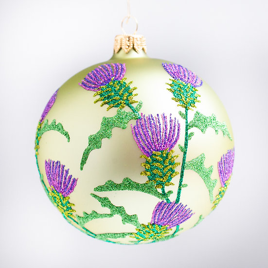 "#2159 - Thomas Glenn ""Thistle"" Ball Christmas Ornament"