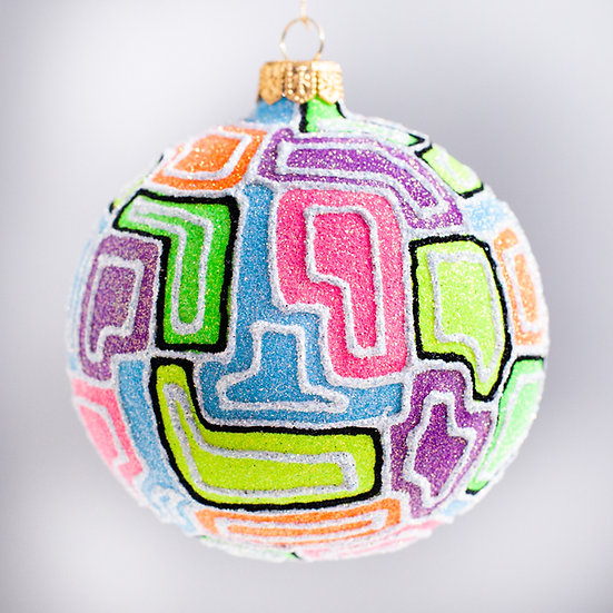 "#2111 - Thomas Glenn ""Melange"" Ball Christmas Ornament"