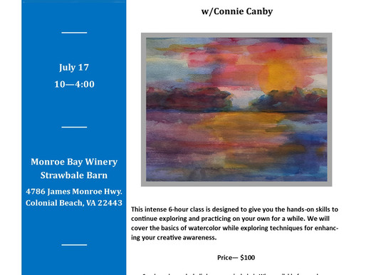 Introduction to Watercolor, July 17, 2021