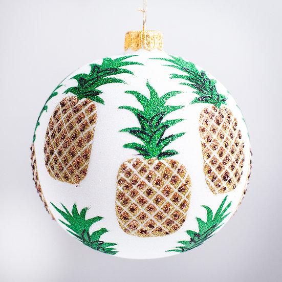 """#2154 - Thomas Glenn """"Golden Pineapple"""" Ball Christmas Ornament"""