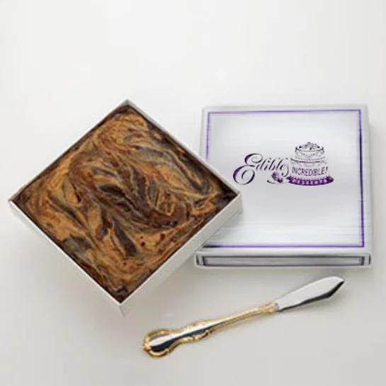 Chocolate Peanut Butter Swirl Fudge  - 1 lb