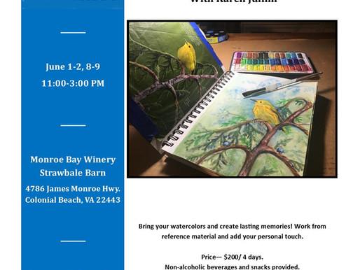 Journal Your Art (Four 3-HOUR CLASSES), June 1, 2, 8, 9, 2021