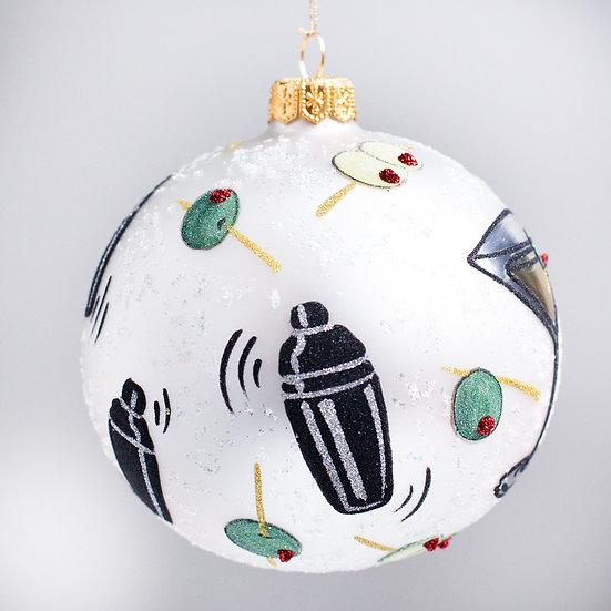 "#2132 - Thomas Glenn ""Shaken not Stirred"" Ball Christmas Ornament"