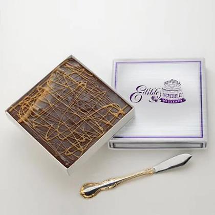 Chocolate Caramel Swirl Fudge  - 1 lb