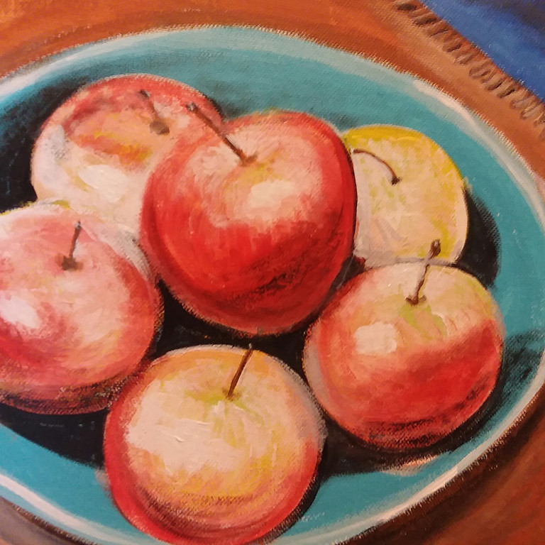 A Brush with Wine/ Apple Harvest