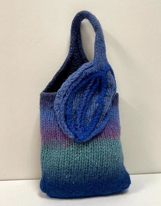 Leave Embrace Hand Felted Purse