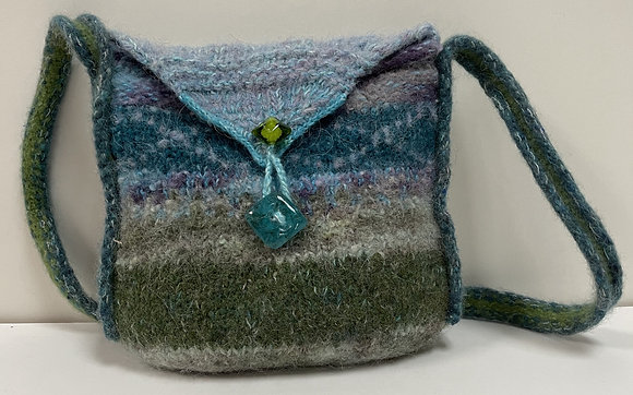 Colors of Nature Hand Felted Purse