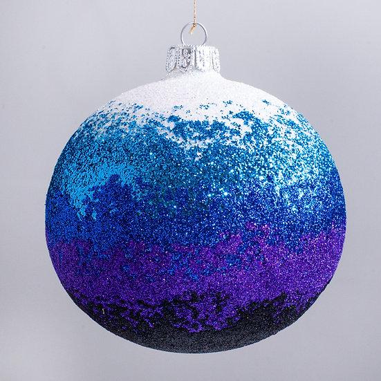 """#2160 - Thomas Glenn """"Blue Seas"""" Ball Christmas Ornament"""