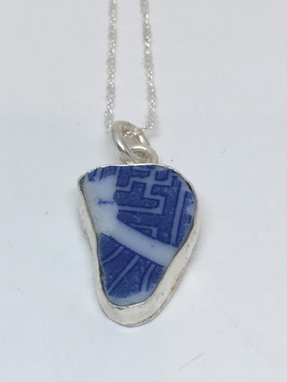Blue Danube English Pottery Pendant