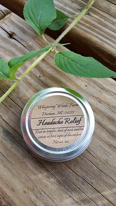 Headache Relief Salve made by Whispering Woods Farm