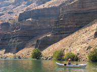 Kayaking Lake Billy Chinook - Oregon