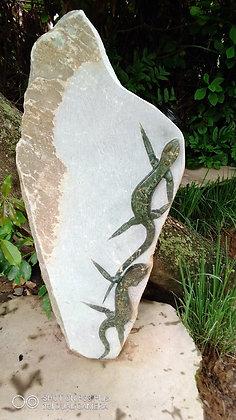 """""""Lizards Sculpture"""" Springstone Sculpture"""