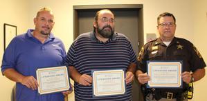 Virginia Dept. of Transportation Monroe Ratcliff and Cleacoe Ratcliff, and OC Sheriff's Deputy Bryan McFarlane.