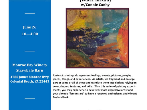 Introduction to Abstract Art (water media) June 26, 2021