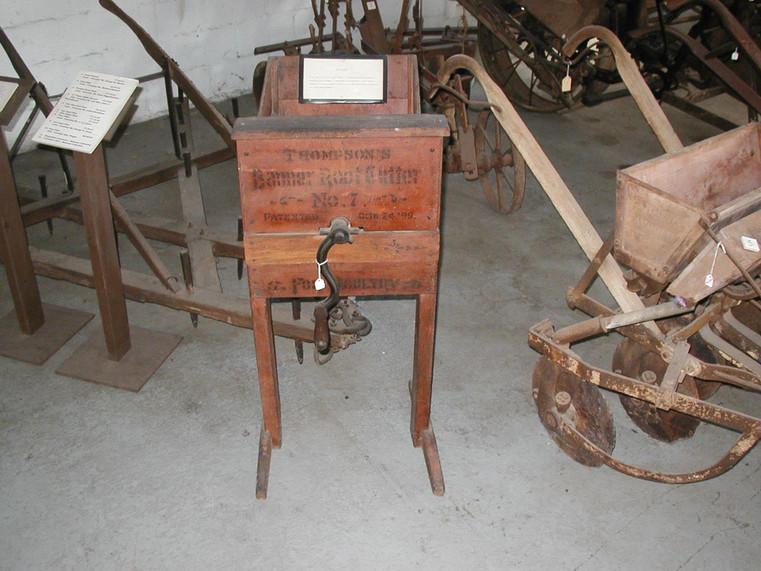 Root Cutter. Circa late 1800's into early 1900's. Made by Thompson. Banner #7.