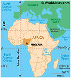 Nigeria Map from World Atlas