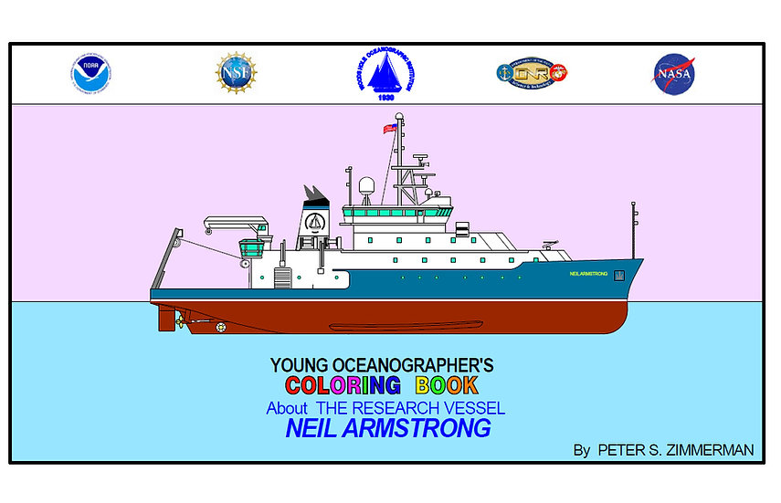 Young Oceanographer's Coloring Book | Neil Armstrong Research Vessel