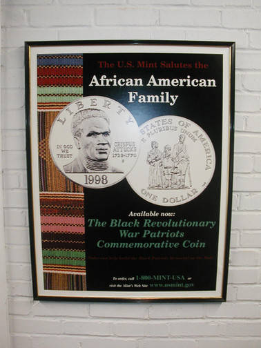 "Poster for ""The Black Revolutionary War Patriots Commemorative Coin"""