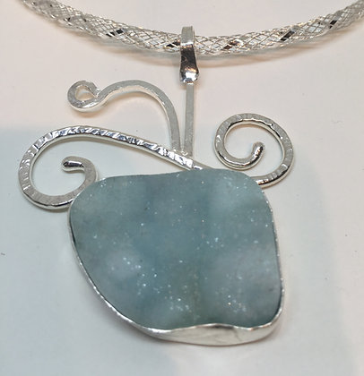 Dream Blue Hemimorphite Drusy Necklace