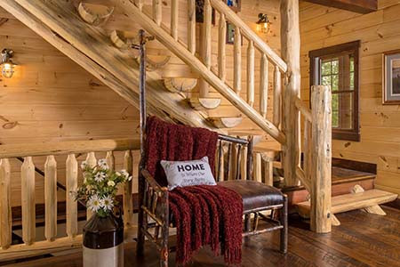 Custom Timberhaven Log Home Features
