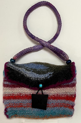 Hand Felted Wool Small Purse with Liner