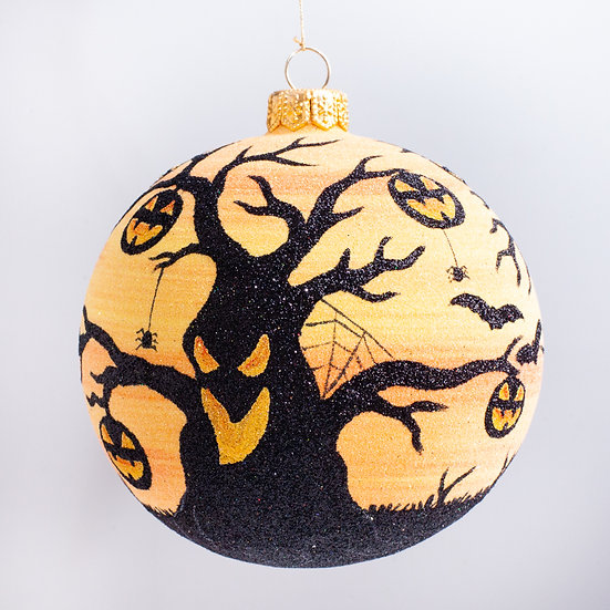 "#2196 - Thomas Glenn ""Haunted Forest"" Ball Halloween Ornament"