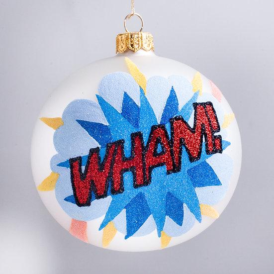 """#2131 - Thomas Glenn """"WHAM!"""" Ball Christmas Ornament"""